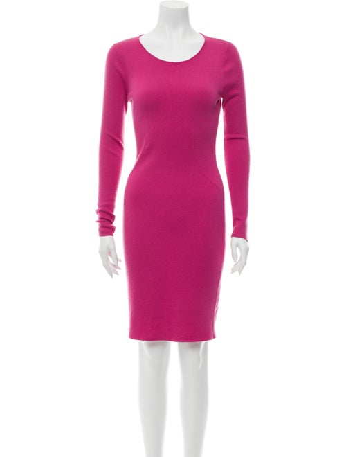 Manrico Cashmere Cashmere Knee-Length Dress Pink