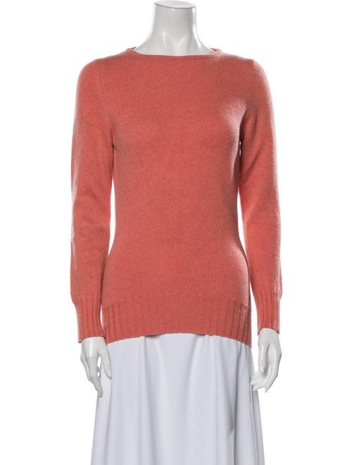 Manrico Cashmere Cashmere Crew Neck Sweater Pink