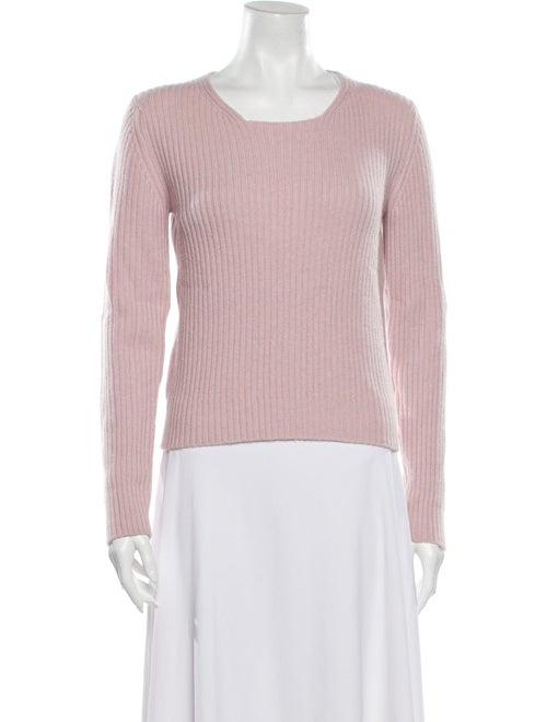 Manrico Cashmere Cashmere Scoop Neck Sweater Pink