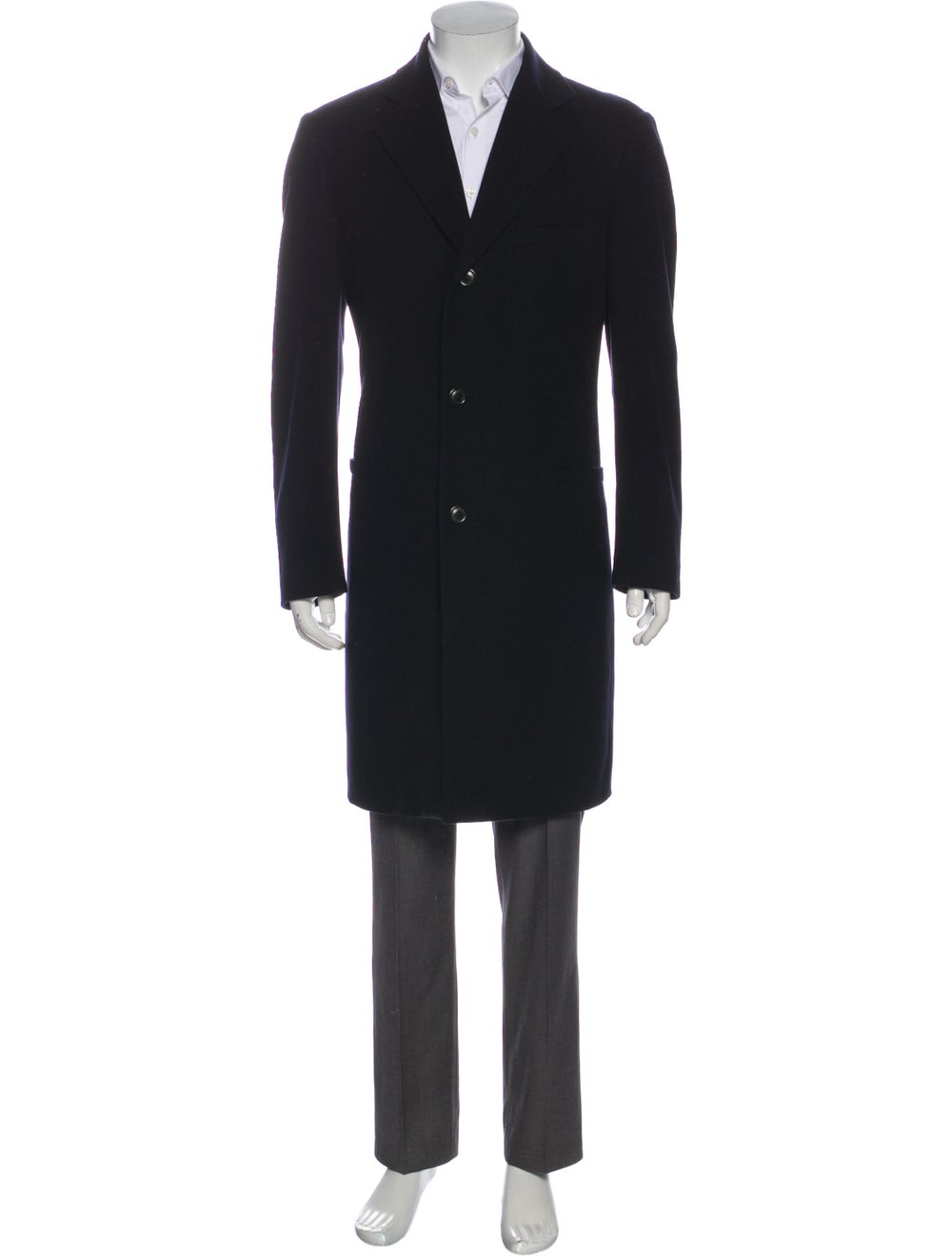 Manrico Cashmere Cashmere Overcoat Black - image 1