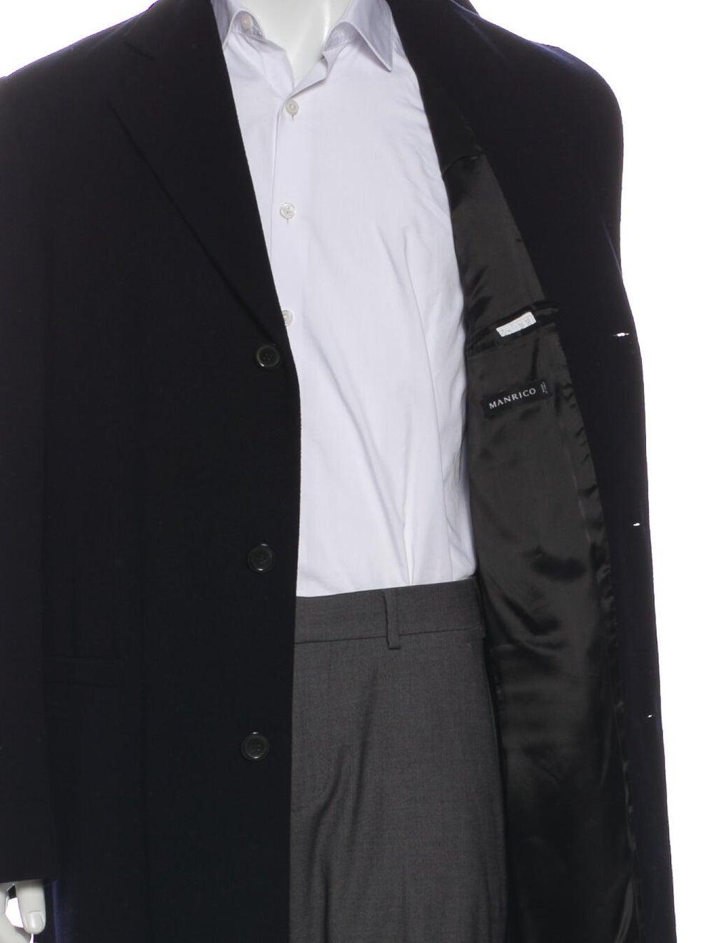 Manrico Cashmere Cashmere Overcoat Black - image 4