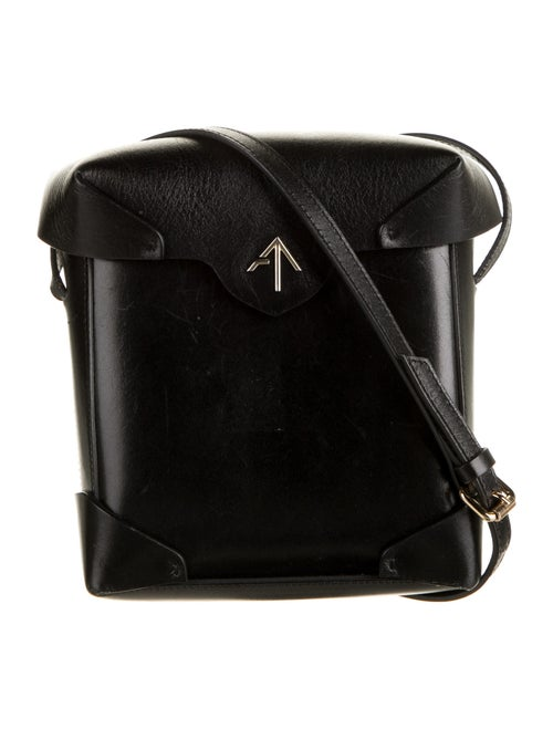 Manu Atelier Leather Crossbody Bag Black