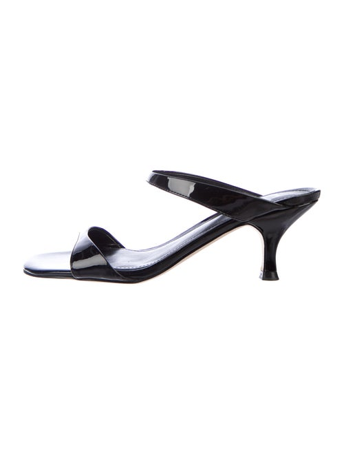 Marc Fisher Patent Leather Sandals Black