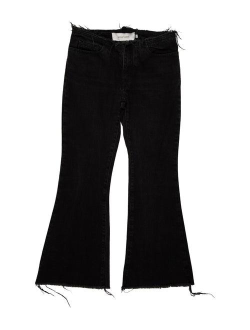 Marques' Almeida Mid-Rise Wide Leg Jeans Grey