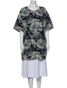 Marques' Almeida Floral Print Mini Dress