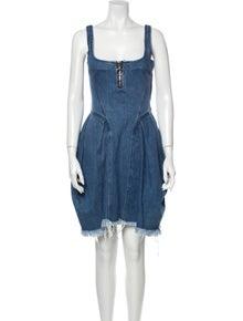 Marques' Almeida Square Neckline Knee-Length Dress
