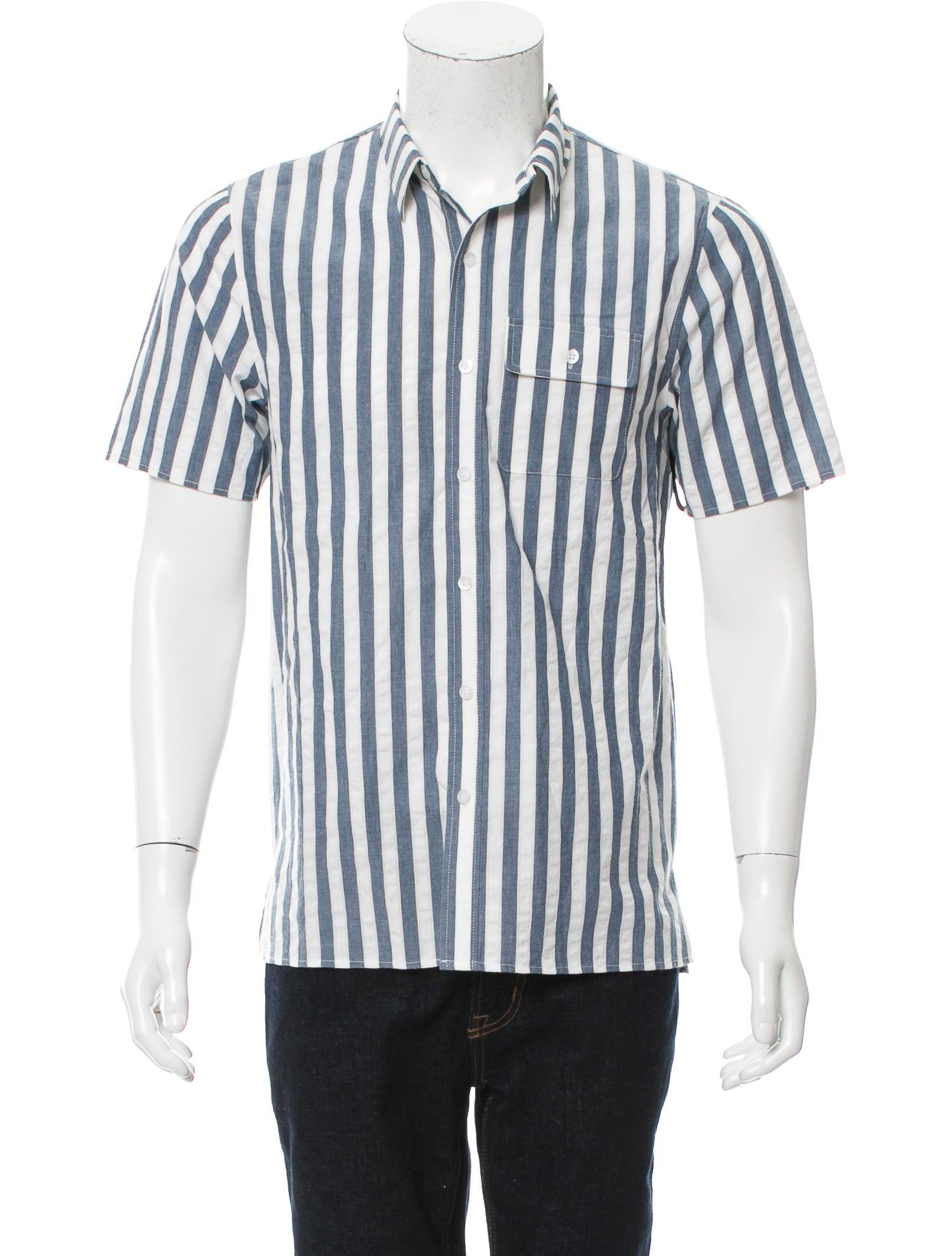 Matiere striped button up shirt clothing wmatr20006 for Striped button up shirt mens