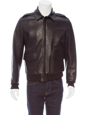 Maxwell Snow Leather Rib Knit-Trimmed Jacket None