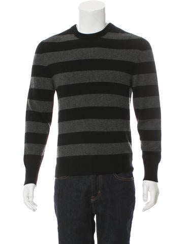 Maxwell Snow Cashmere Striped Sweater w/ Tags None