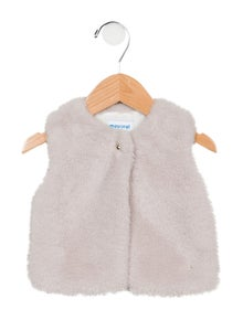 Mayoral Girls' Faux Fur Vest