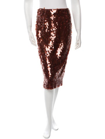 Sequin Embellished Pencil Skirt w/ Tags