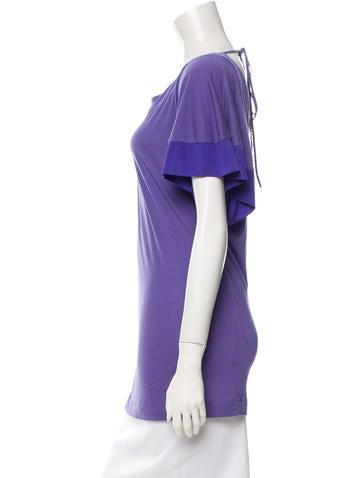 Short Sleeve Bateau Neck Top