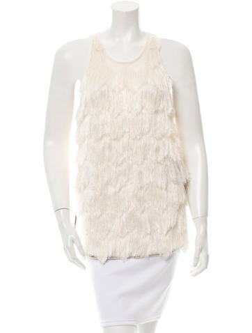 By Malene Birger Hanao Fringe-Embellished Top w/ Tags None