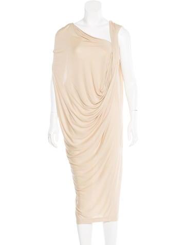 By Malene Birger Draped Jersey Knit Dress None
