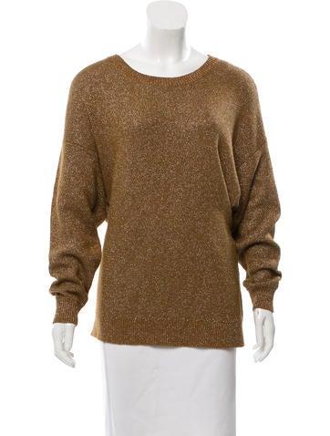 By Malene Birger Metallic Dolman Sleeve Sweater None