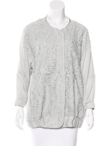 By Malene Birger Silk Lace Jacket None