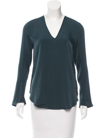 By Malene Birger Silk V-Neck Top w/ Tags None
