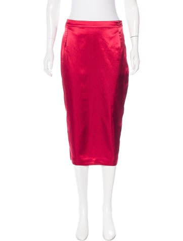 By Malene Birger Satin Midi Skirt w/ Tags None