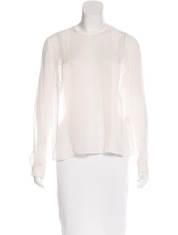 By Malene Birger Silk Semi-Sheer Top w/ Tags None