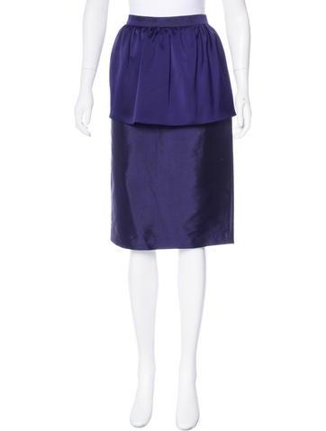By Malene Birger Silk & Wool-Blend Skirt None