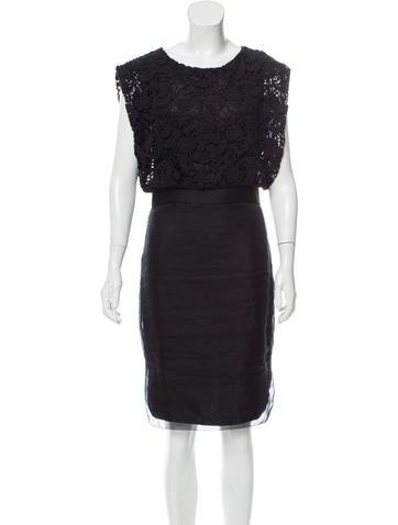 By Malene Birger Silk-Overlay Lace Dress None