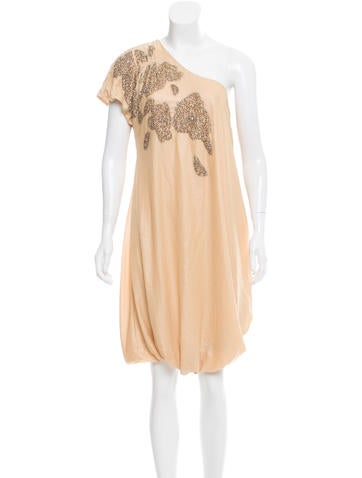 By Malene Birger Silk One-Shoulder Dress None