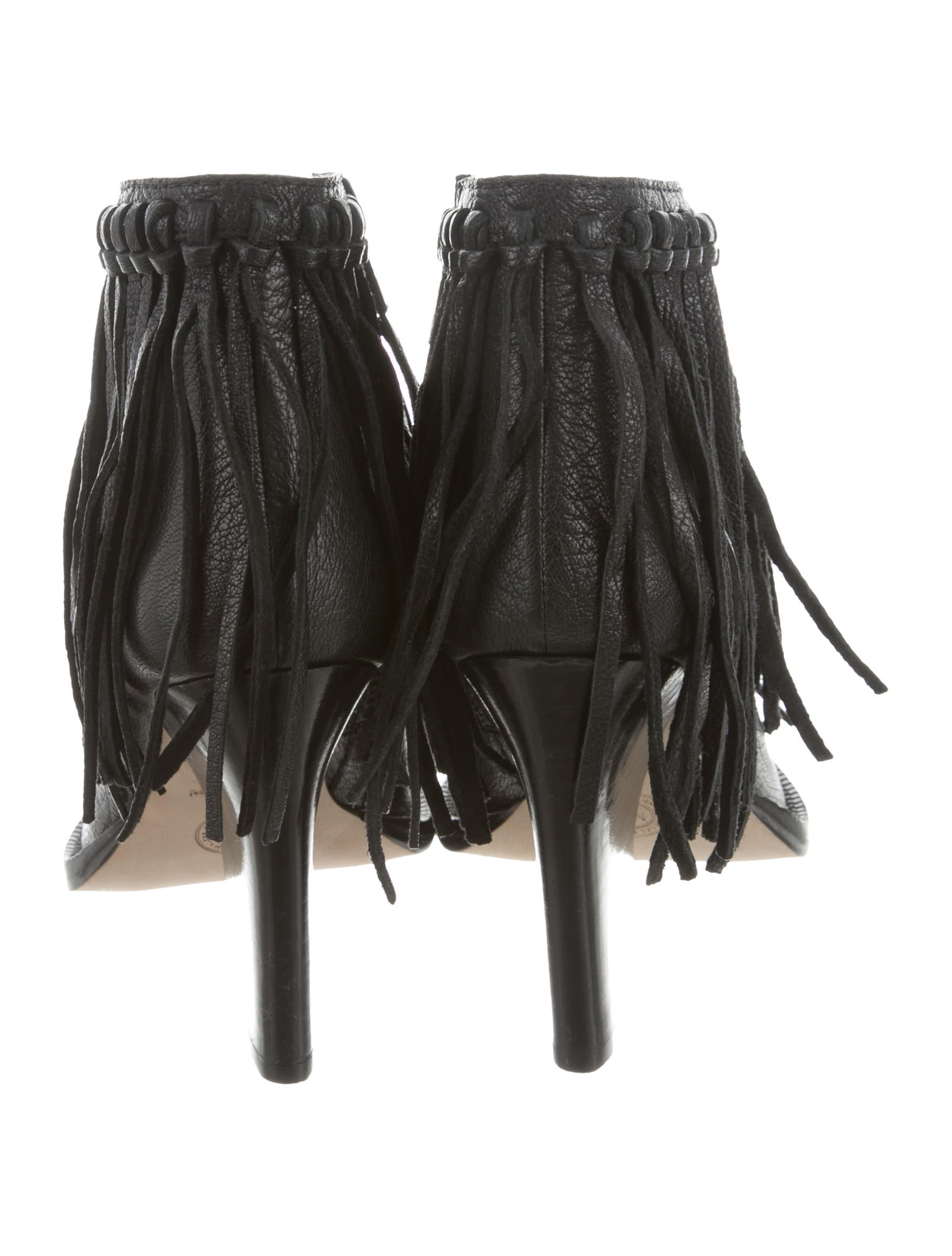 By Malene Birger Leather Fringe Booties w/ Tags clearance affordable It6kERZKF