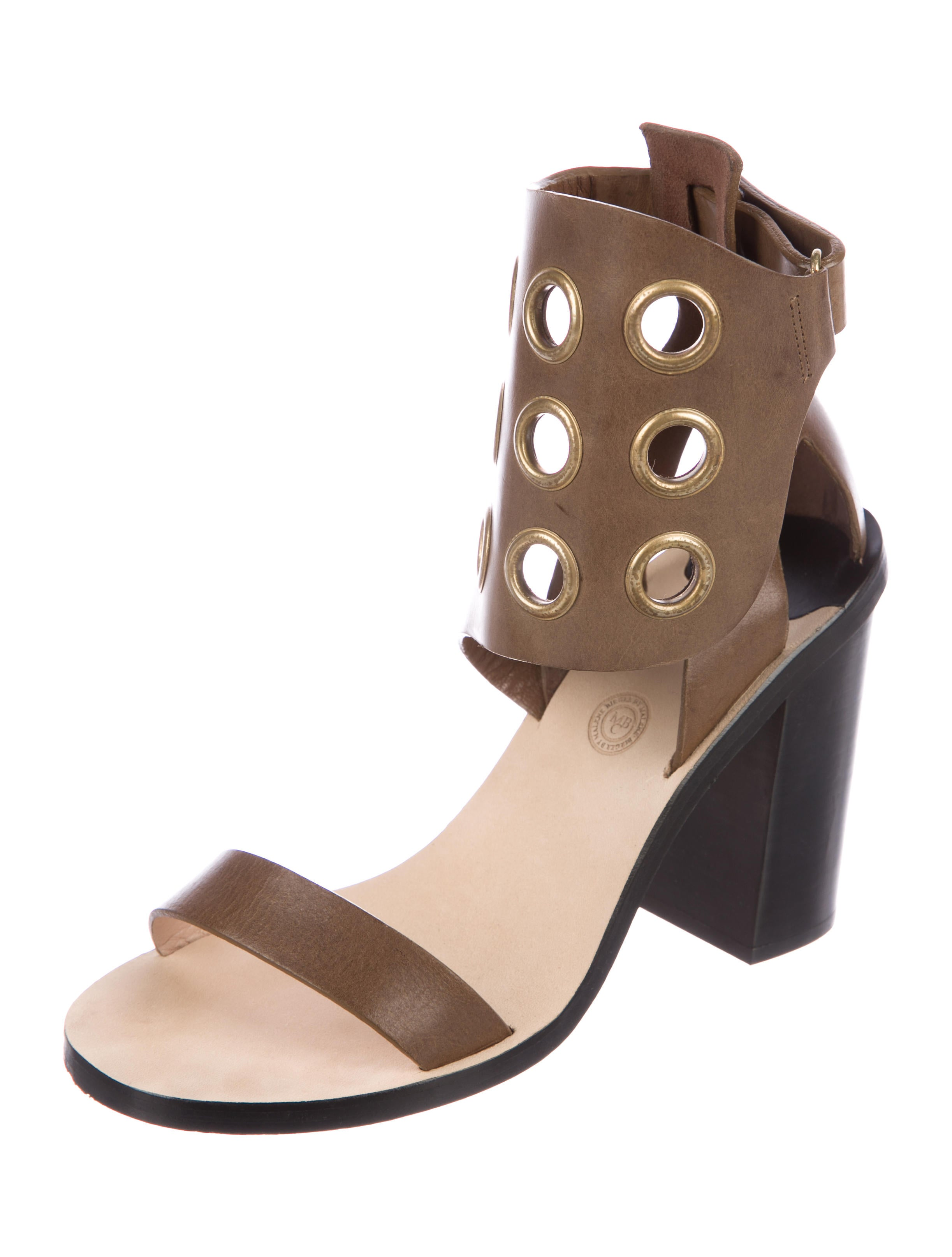 high quality buy online deals sale online By Malene Birger Leather Grommet Sandals shop cheap price cheap price outlet RYTeA