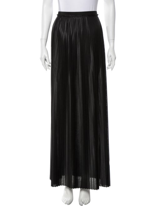 By Malene Birger Pleated Accents Long Skirt Black