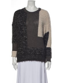 By Malene Birger Printed Scoop Neck Sweater