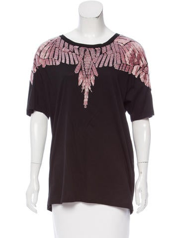 Marcelo Burlon Embellished Short Sleeve Top w/ Tags None