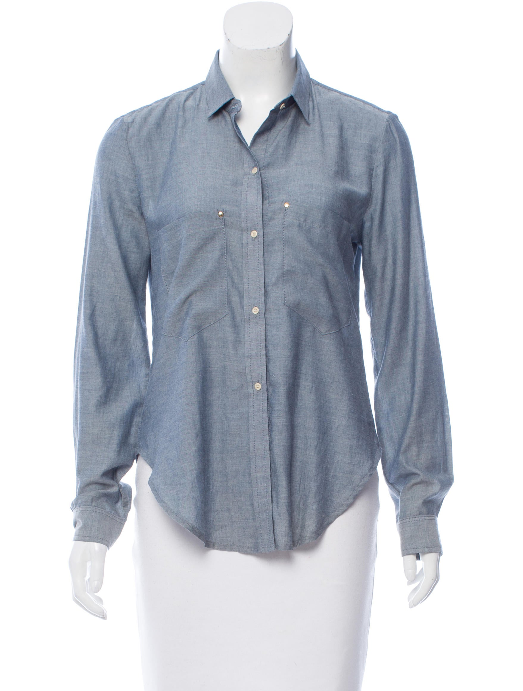 Mcguire denim chambray button up top clothing for Chambray top