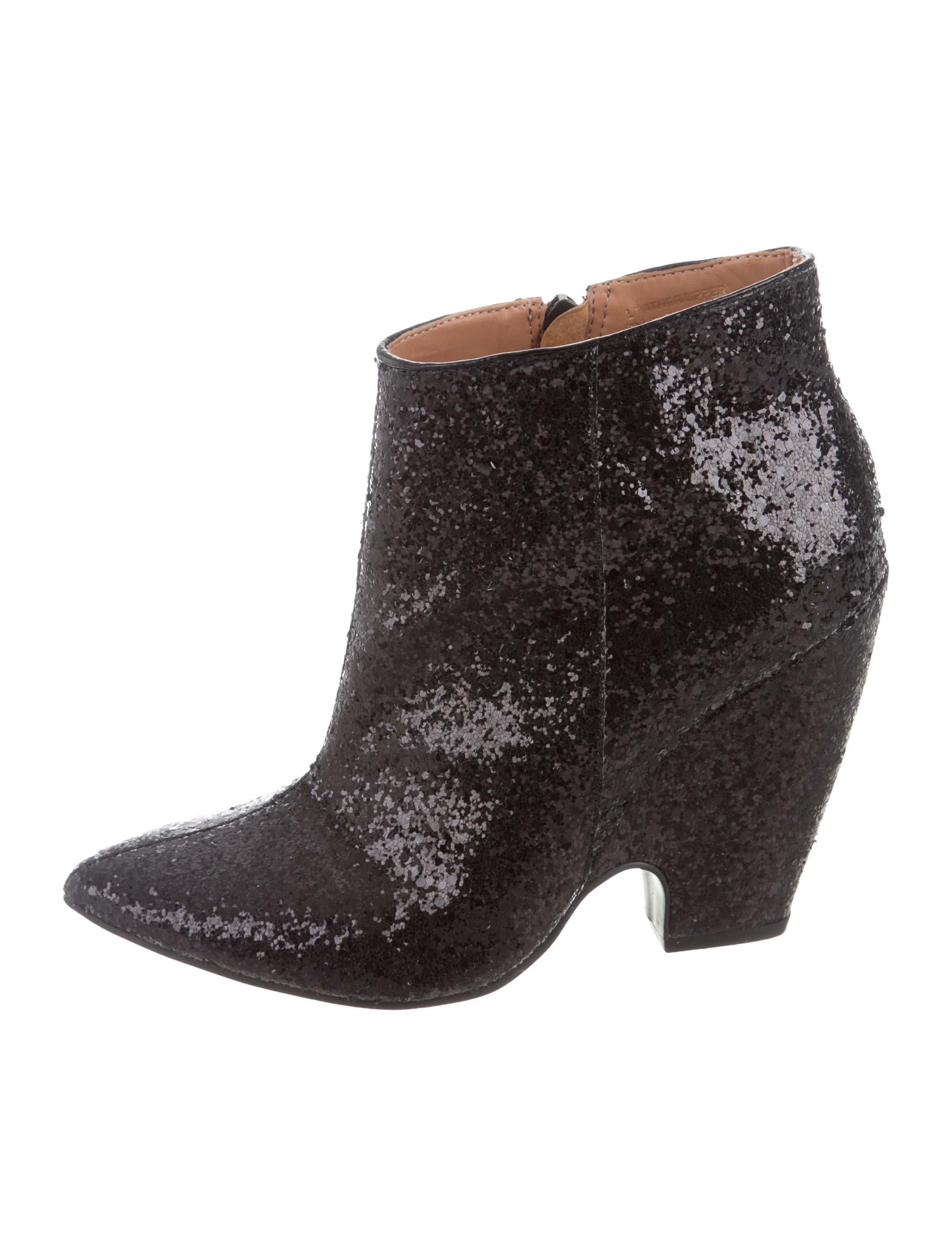 clearance shop Madison Harding Glitter Pointed-Toe Ankle Boots recommend online free shipping cheap price EghxvDdtj