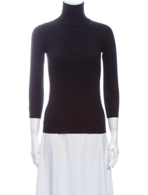 Madeleine Thompson Cashmere Turtleneck Sweater Bla