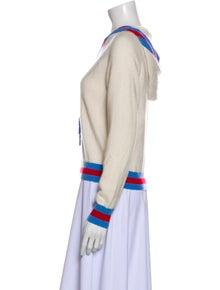 Madeleine Thompson Striped Crew Neck Sweater