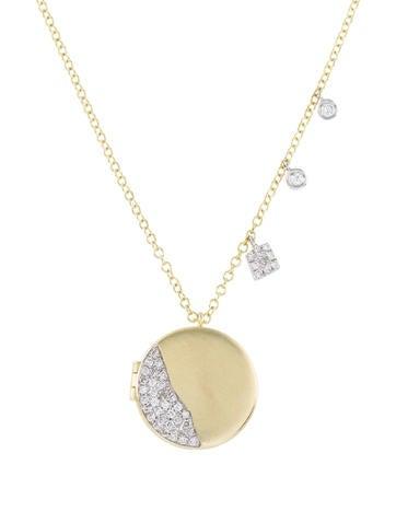 Meira t 14k diamond locket pendant necklace necklaces wmeir20256 14k diamond locket pendant necklace aloadofball Gallery