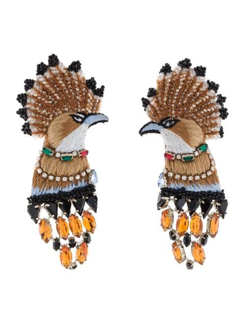 Mignonne Gavigan Palace Bird Earrings Silver