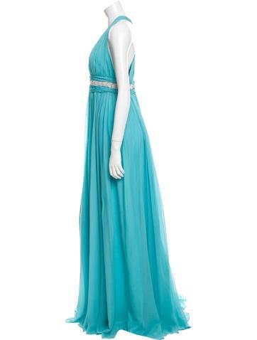 Sleeveless Silk Gown