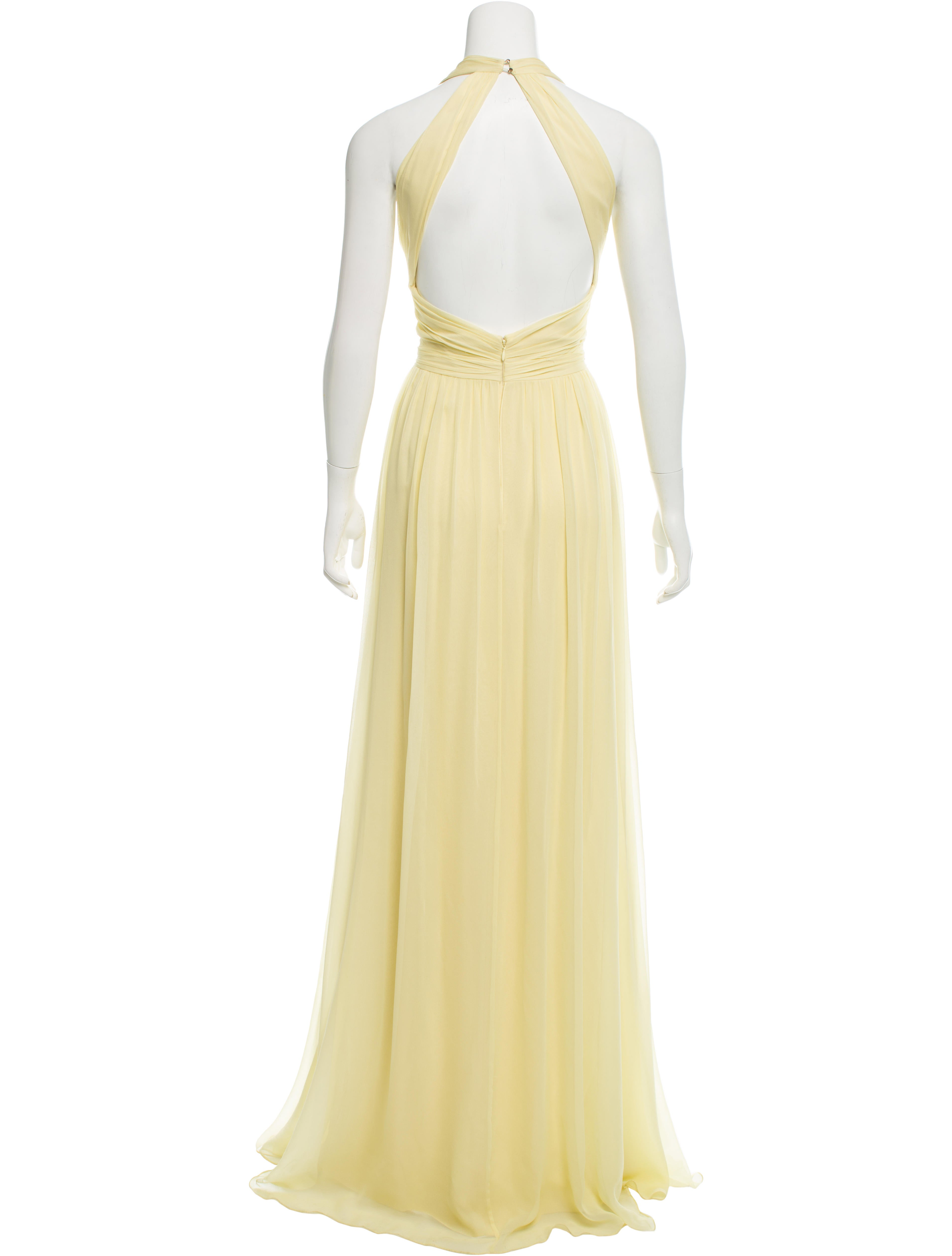 marchesa notte silk bead embellished evening dress w tags