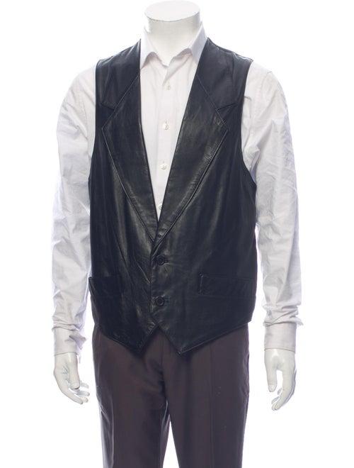 Michael Hoban North Beach Leather Vest Black