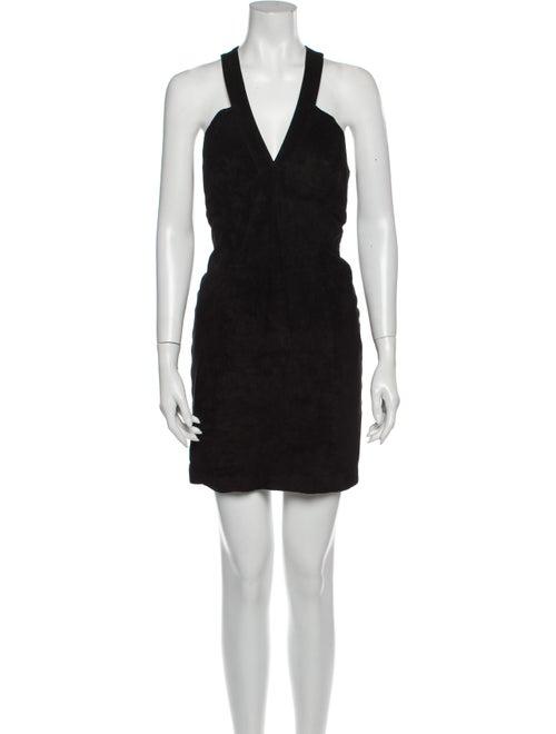 Michael Hoban North Beach Leather Mini Dress Black