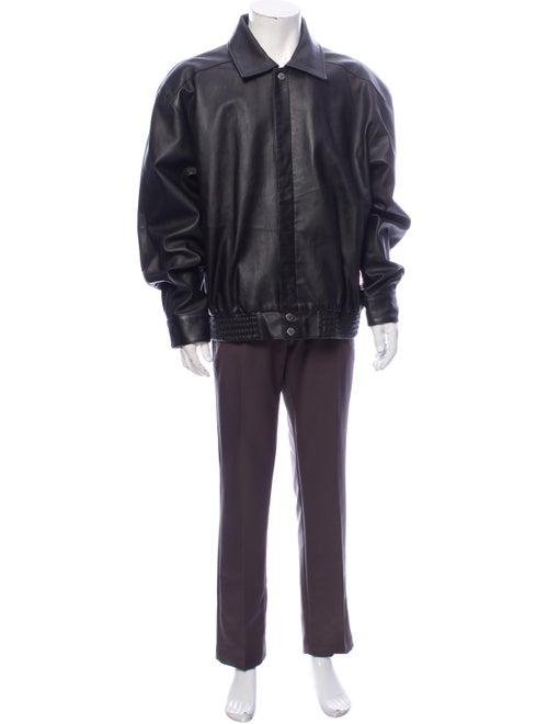 Michael Hoban North Beach Leather Moto Jacket Blac