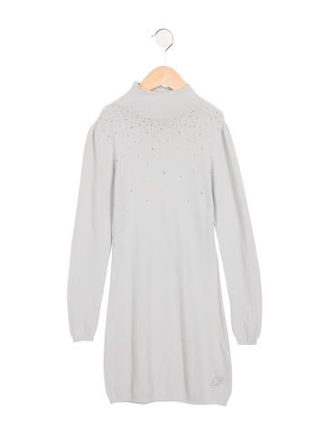 Miss Blumarine Girls' Embellished Sweater Dress None