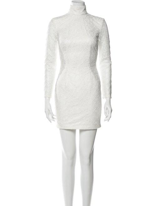 Misha Collection Turtleneck Mini Dress White - image 1