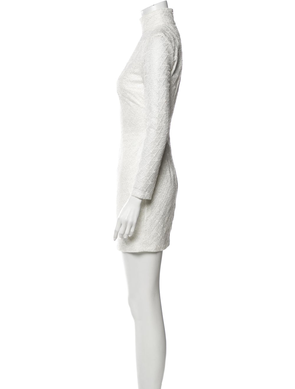 Misha Collection Turtleneck Mini Dress White - image 2