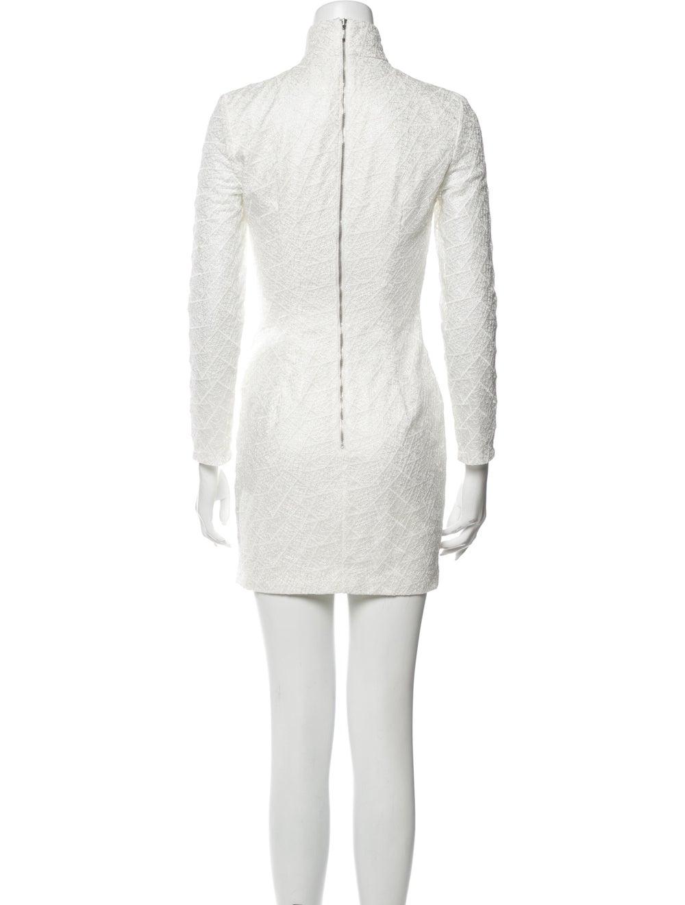 Misha Collection Turtleneck Mini Dress White - image 3