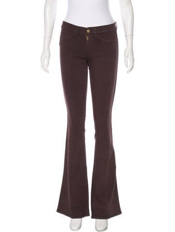 MIH Jeans Mid-Rise Wide-Leg Jeans None