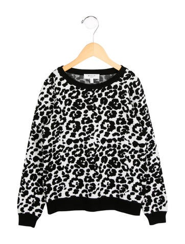 Milly Minis Girls' Leopard Patterned Sweater None