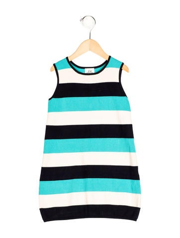 Milly Minis Girls' Striped Rib Knit Dress None