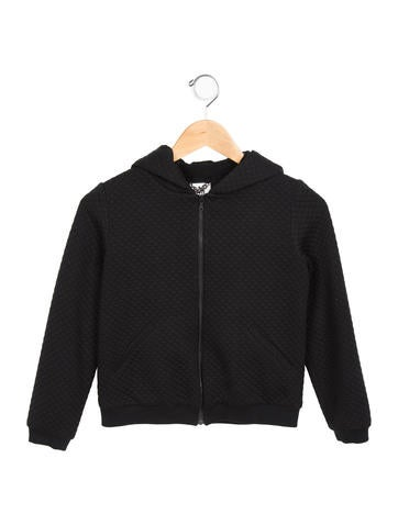 Milly Minis Girls' Quilted Hooded Jacket None